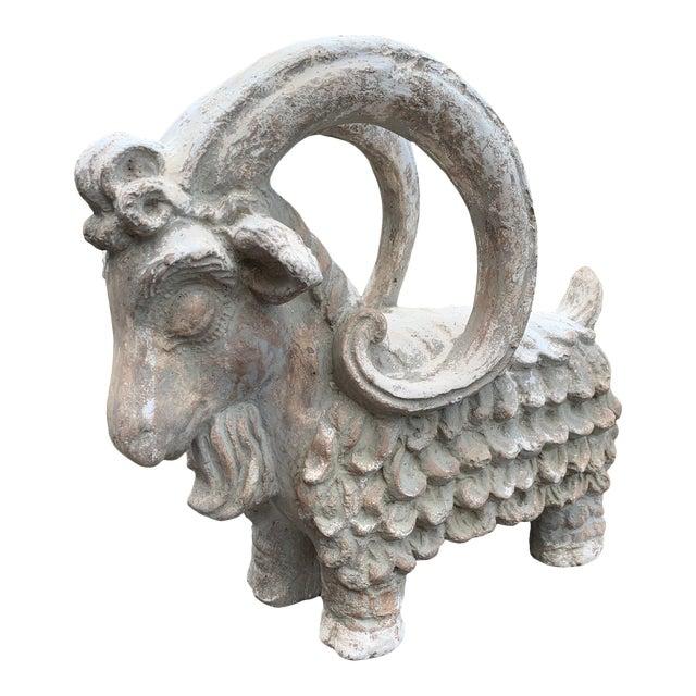 Terracotta Sculpture of Billy Goat Ram For Sale