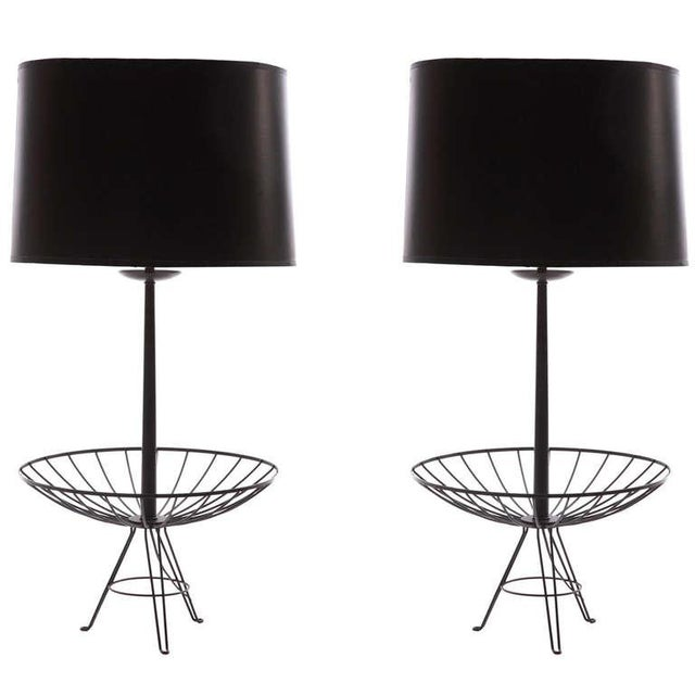 Pair of Stunning Lacquered Copper Lamps After Ferris & Shacknove For Sale - Image 4 of 4
