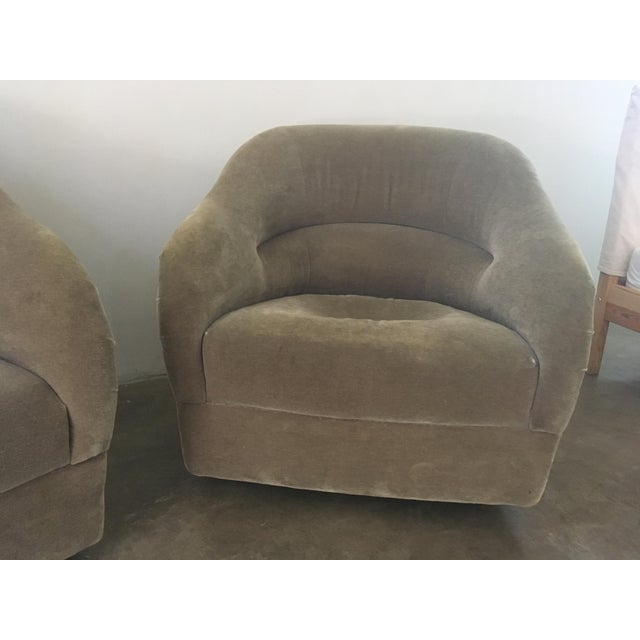 Pair of Ward Bennett Mohair Club Chairs For Sale - Image 9 of 12