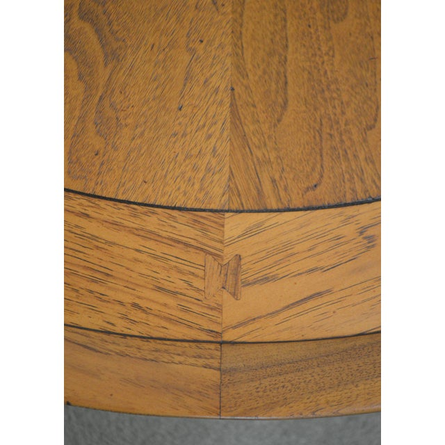 "Tomlinson Sophisticate 40"" Round Mid Century Modern Walnut & Recan Coffee Table For Sale - Image 9 of 13"