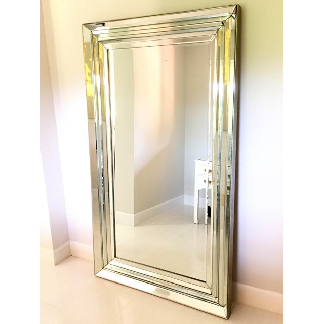 Leaning Six-Bevel Framed Mirror | Chairish