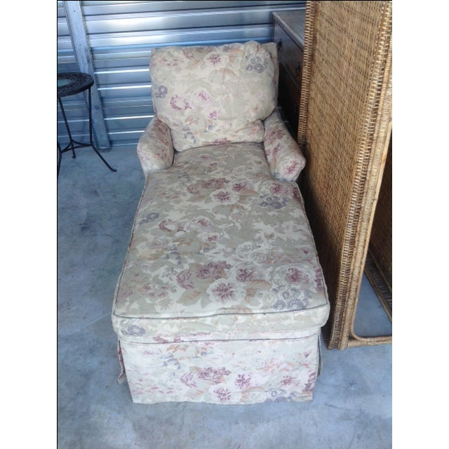 Vintage 1930s Floral Chaise - Image 6 of 7