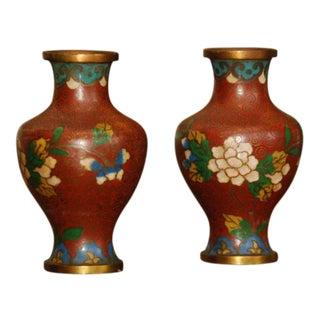 Pair of Cloissonne Jars