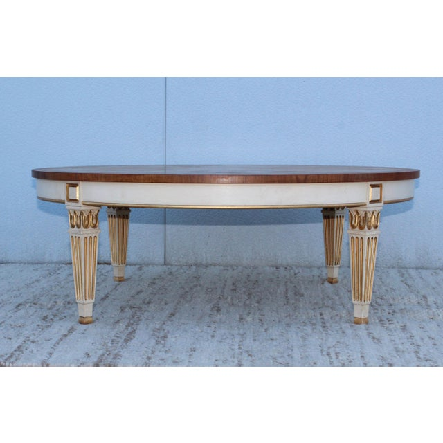 1950s Giltwood Coffee Table by Baker For Sale In New York - Image 6 of 11