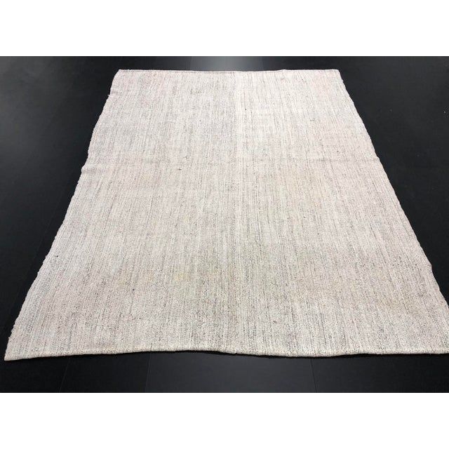 1960s 1960s Vintage Turkish Nomadic Kilim Handmade Wool Rug - 6′1″ × 7′10″ For Sale - Image 5 of 11