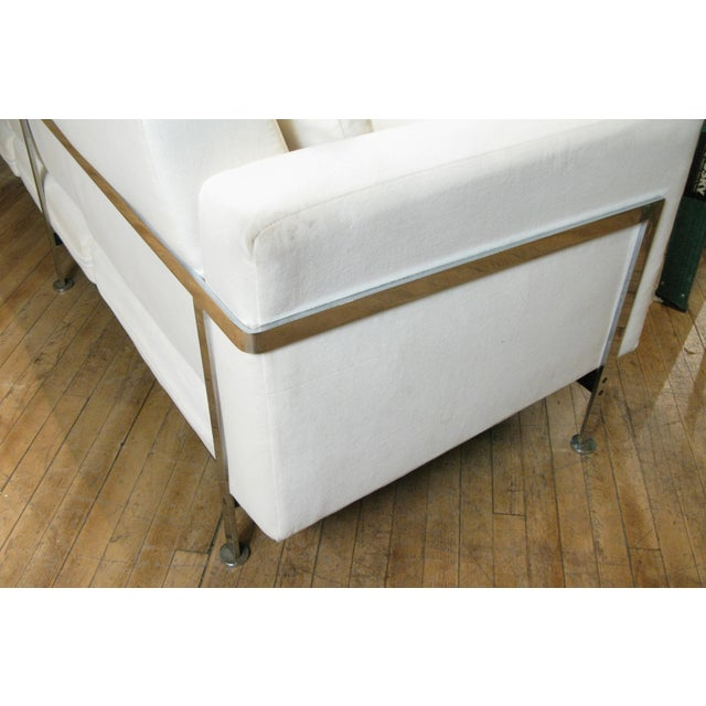 1960s Polished Steel Sofa by Robert Haussmann for Hans Kaufeld For Sale In New York - Image 6 of 9