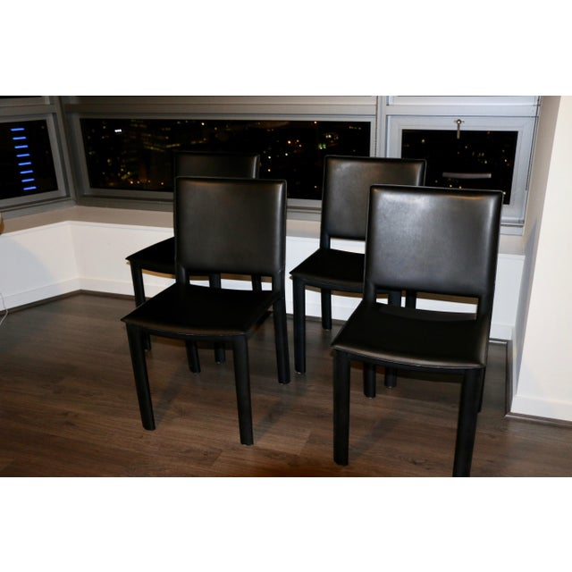 Room and Board Madrid Leather Chairs- Set of 4 For Sale In Chicago - Image 6 of 6