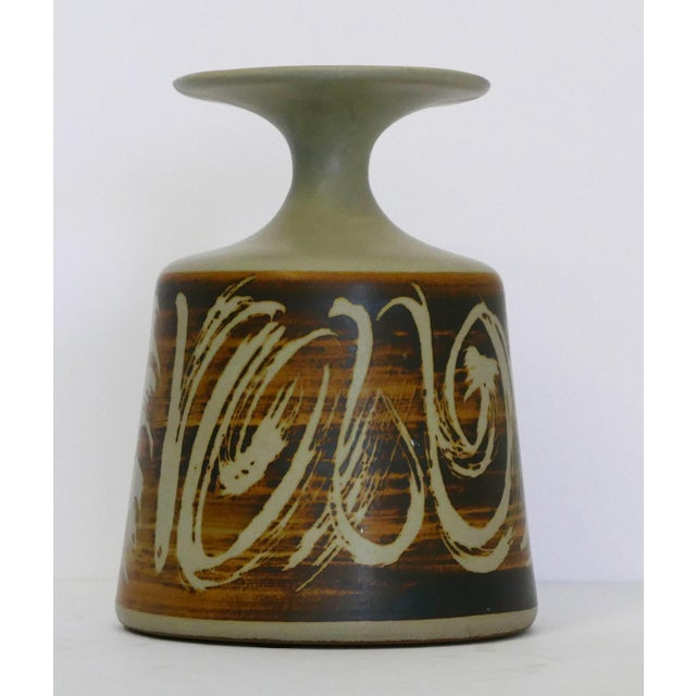 Abstract Designs West, Ca Stoneware Vessel For Sale - Image 3 of 7