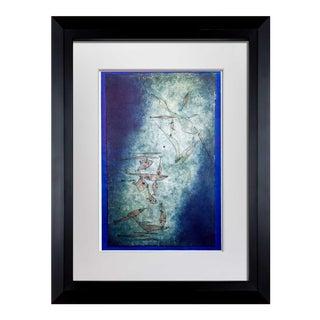 """Paul Klee Lithograph """"Fischbild"""" on Handmade Ppr +Custom Framing For Sale"""