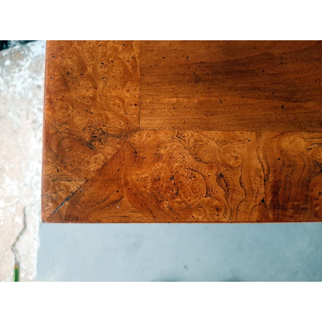 Vintage Heritage Furniture Cherry Nesting Tables With Curly Burl Wood Banding, 2 Pieces For Sale - Image 12 of 13
