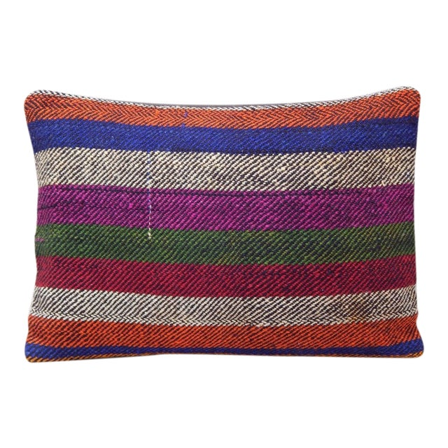 Turkish Kilim Lumbar Pillow For Sale