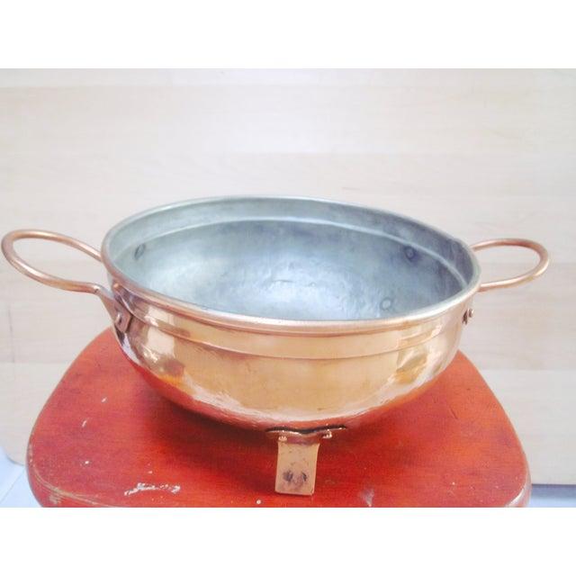 Copper Pot Set Hammered Copper & Brass Pots & Pans - Set of 4 - Image 7 of 10
