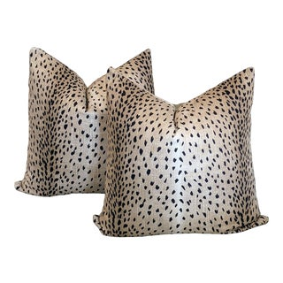 Antelope in Classic Black Pillow Covers - a Pair For Sale