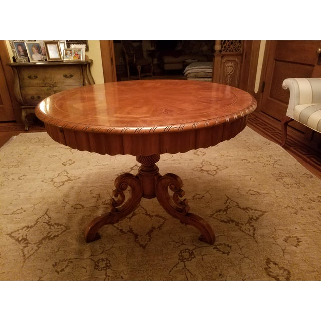 Wood Ebanista Table With Inlay For Sale - Image 7 of 7