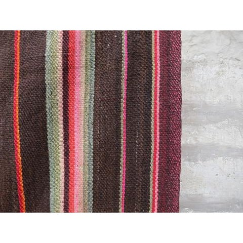 Peruvian Frazada Rug - 5′10″ × 5′10″ For Sale - Image 4 of 5