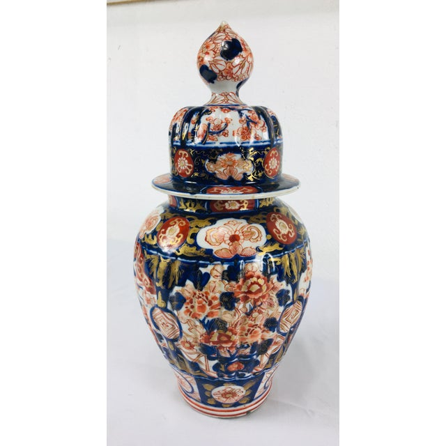 19th Century Hand Painted Japanese Vase With Lid For Sale - Image 10 of 11