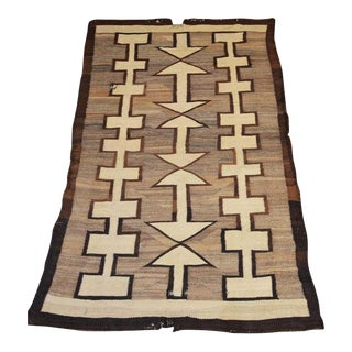 Early 20th Century Antique Navajo Style Rug - 4′ × 7′ For Sale
