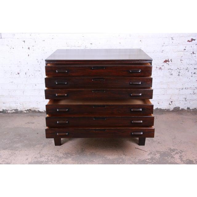 Vintage Dark Oak Blueprint Flat File For Sale - Image 4 of 11