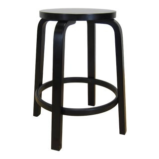 "Modern Ebonized Alvar Aalto for Artek ""Bar Stool 64"" For Sale"