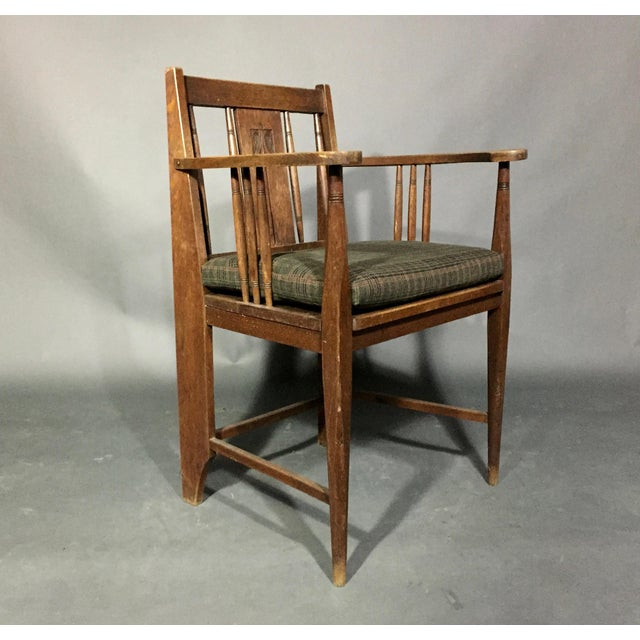 Art Nouveau Carved Oak Side Chair, Germany 1910, Pair Available For Sale - Image 11 of 11