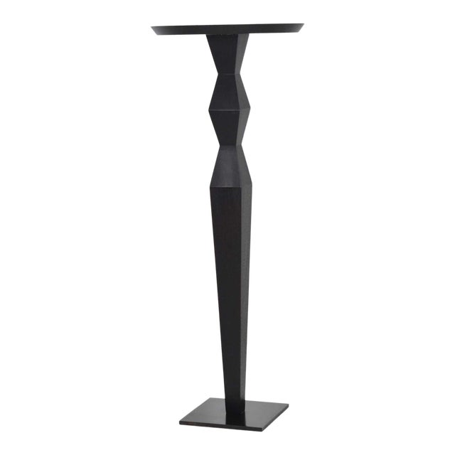 Christian Liaigre for Holly Hunt Ebony Oak Pedestal For Sale