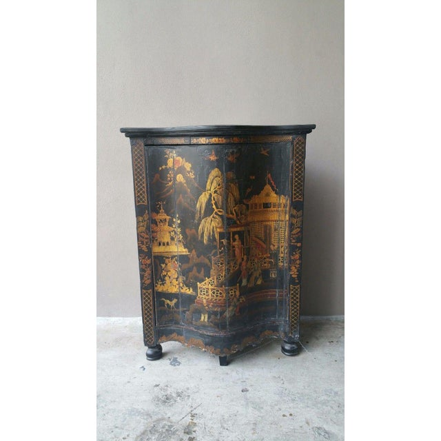 Black Early 19th C English Chinoiserie Corner Cabinet For Sale - Image 8 of 8