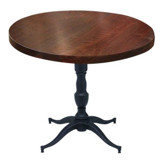 Victorian Base Round Walnut Bistro Table