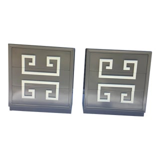 Greek Key Modernist Chests, a Pair For Sale