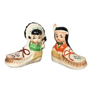 Vintage Native American Salt and Pepper Shakers For Sale