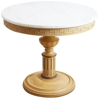 Italian Neoclassical Carrara Marble-Top Centre Table For Sale