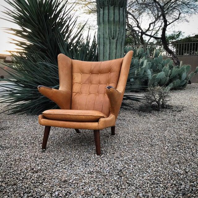 Hans Wegner Papa Bear Wingback Lounge Chair - Image 2 of 3