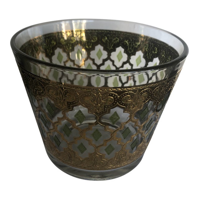 1970s Vintage Culver Valencia Glass Ice Bucket For Sale