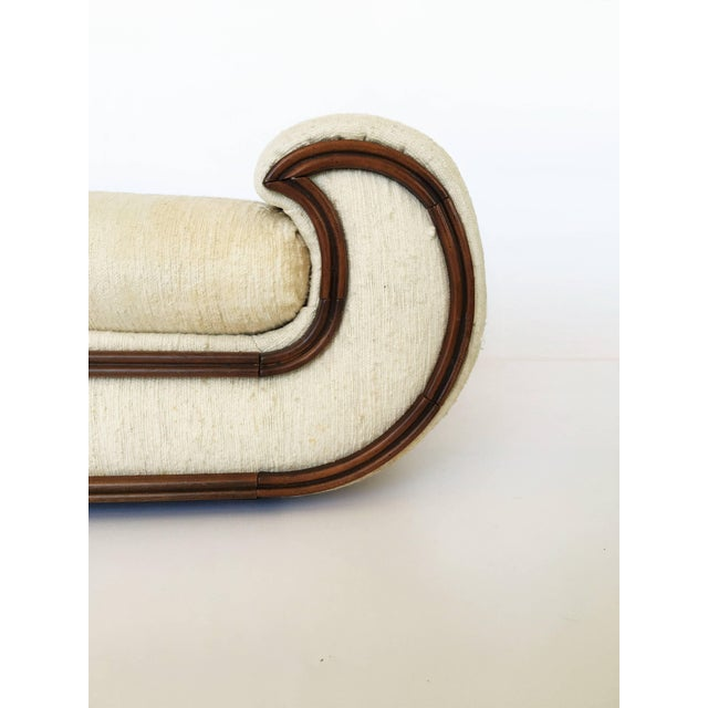 Hollywood Regency 1970's Chaise Lounge or Daybed by Vivai del Sud, Italy For Sale - Image 3 of 8