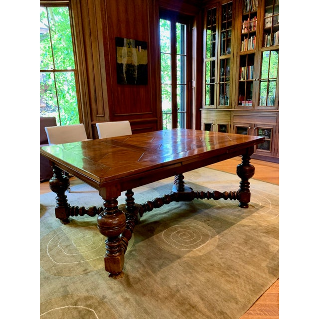 Brown 19th Century French Draw Leaf Table For Sale - Image 8 of 9