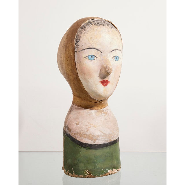 Early 20th century European Head of girl in original decoration and condition. Measurements 14.5 Inches /37 cms Height 7.5...