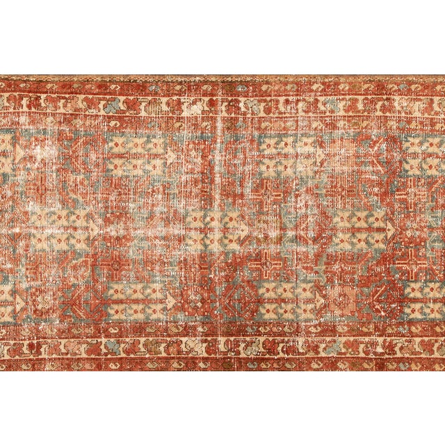"Apadana-Antique Persian Distressed Rug, 3'4"" X 13'7"" For Sale - Image 4 of 11"