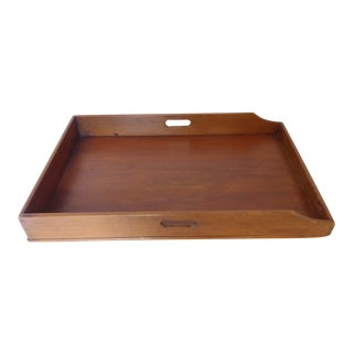 Antique English Mahogany Butler Tray For Sale