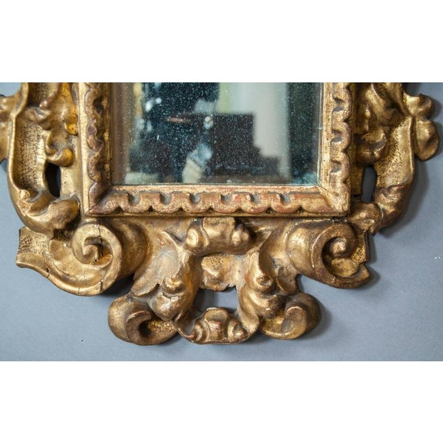 Italian Baroque Giltwood Mirror - Image 6 of 8