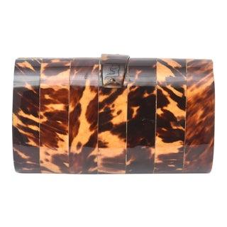 Tortoise Shell Vintage Clutch / Evening Bag For Sale