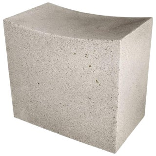 Cast Resin 'Mason Cut' Stool, Natural Stone Finish by Zachary A. Design For Sale