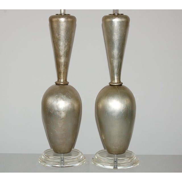 Modern Plaster Table Lamps by Swank Champagne For Sale - Image 3 of 9