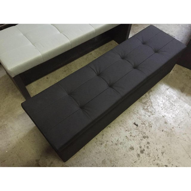 Lazzoni Black Leather Storage Bench Chairish