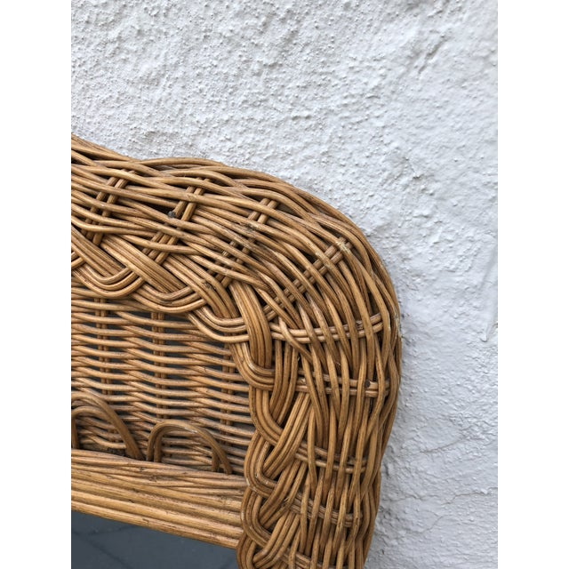 1970s Natural Wicker Lexington Mirror For Sale - Image 5 of 7