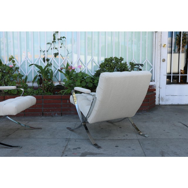 Steel Chrome Lounge Chairs inspired by Milo Baughman For Sale - Image 10 of 13