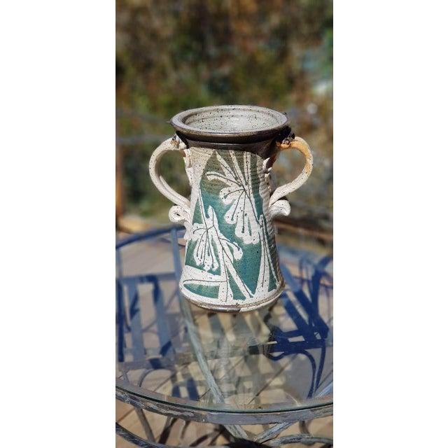 Boho Chic Mid Century Handmade Pottery Vase For Sale - Image 3 of 3