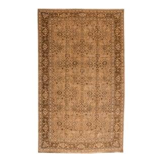 Mid 20th Century 12'x19' Vintage Tabriz Wool Rug For Sale