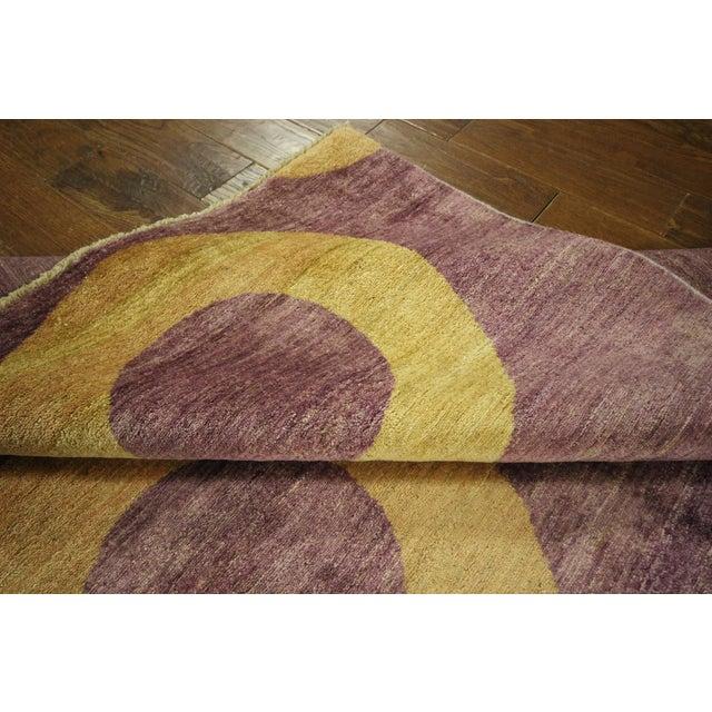 "Modern Purple Gabbeh Area Rug - 5'7"" x 8'2"" - Image 9 of 10"
