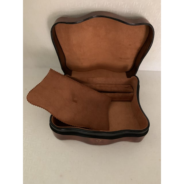 Vintage Italian Leather Men's Jewelry Box For Sale In New York - Image 6 of 9