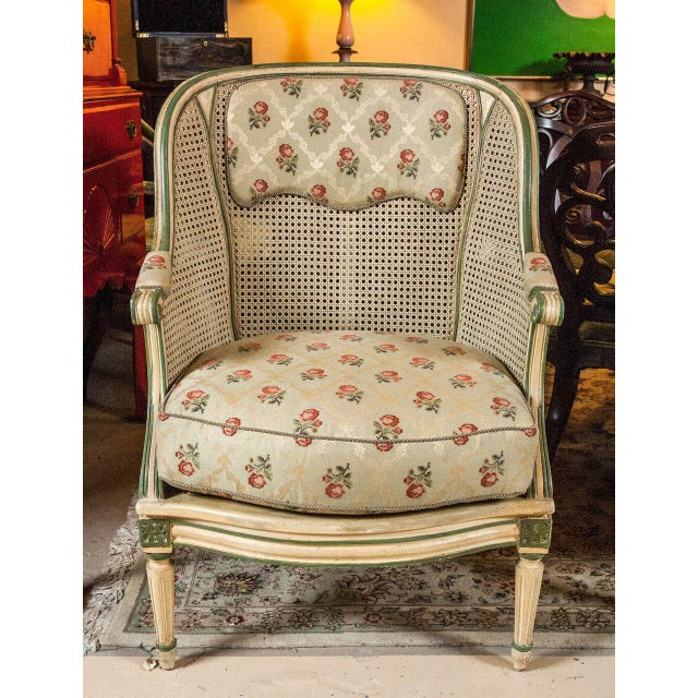 Louis XVI Style Bergere Chairs - A Pair - Image 3 of 7