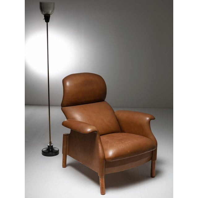 "Animal Skin ""Sanluca"" Leather Lounge Chairs by Castiglioni for Gavina For Sale - Image 7 of 8"